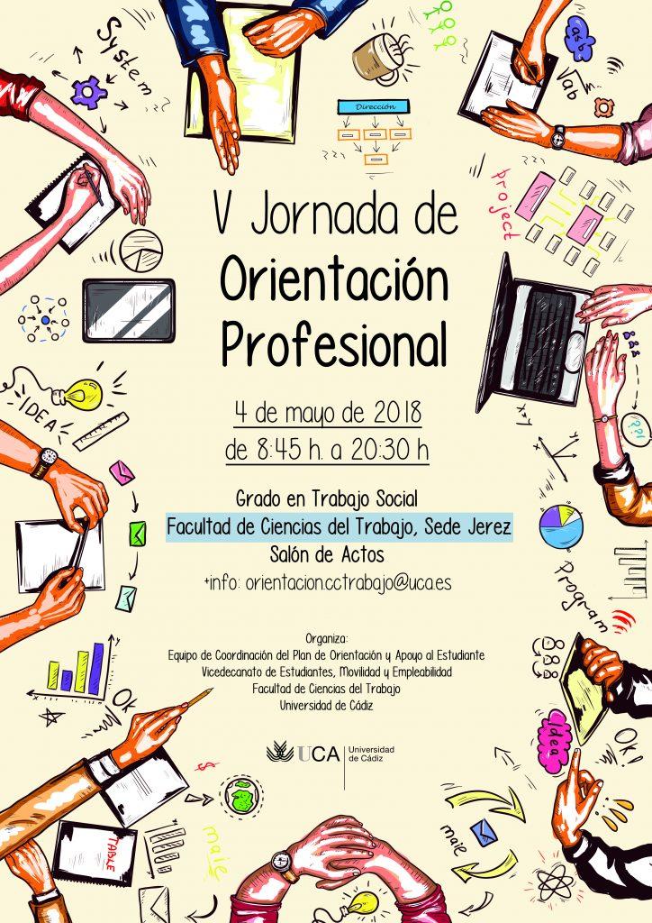 Celebración de la V Jornada de Orientación Profesional del Grado en Trabajo Social (Sede Jerez)