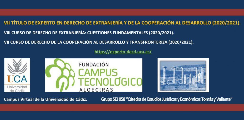 VII Curso de Experto en Derecho de Extranjería y de la Cooperación al Desarrollo de la Universidad de Cádiz.